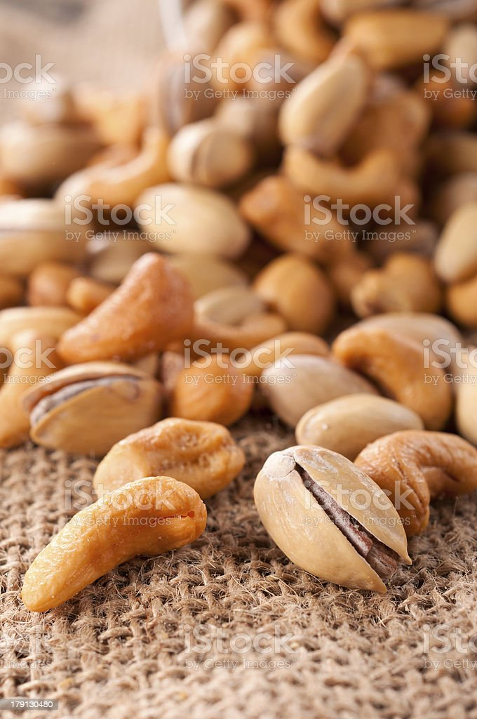 Nuts mix royalty-free stock photo