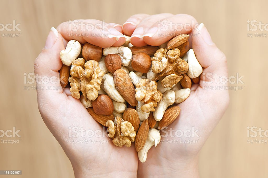 Nuts' mixture stock photo