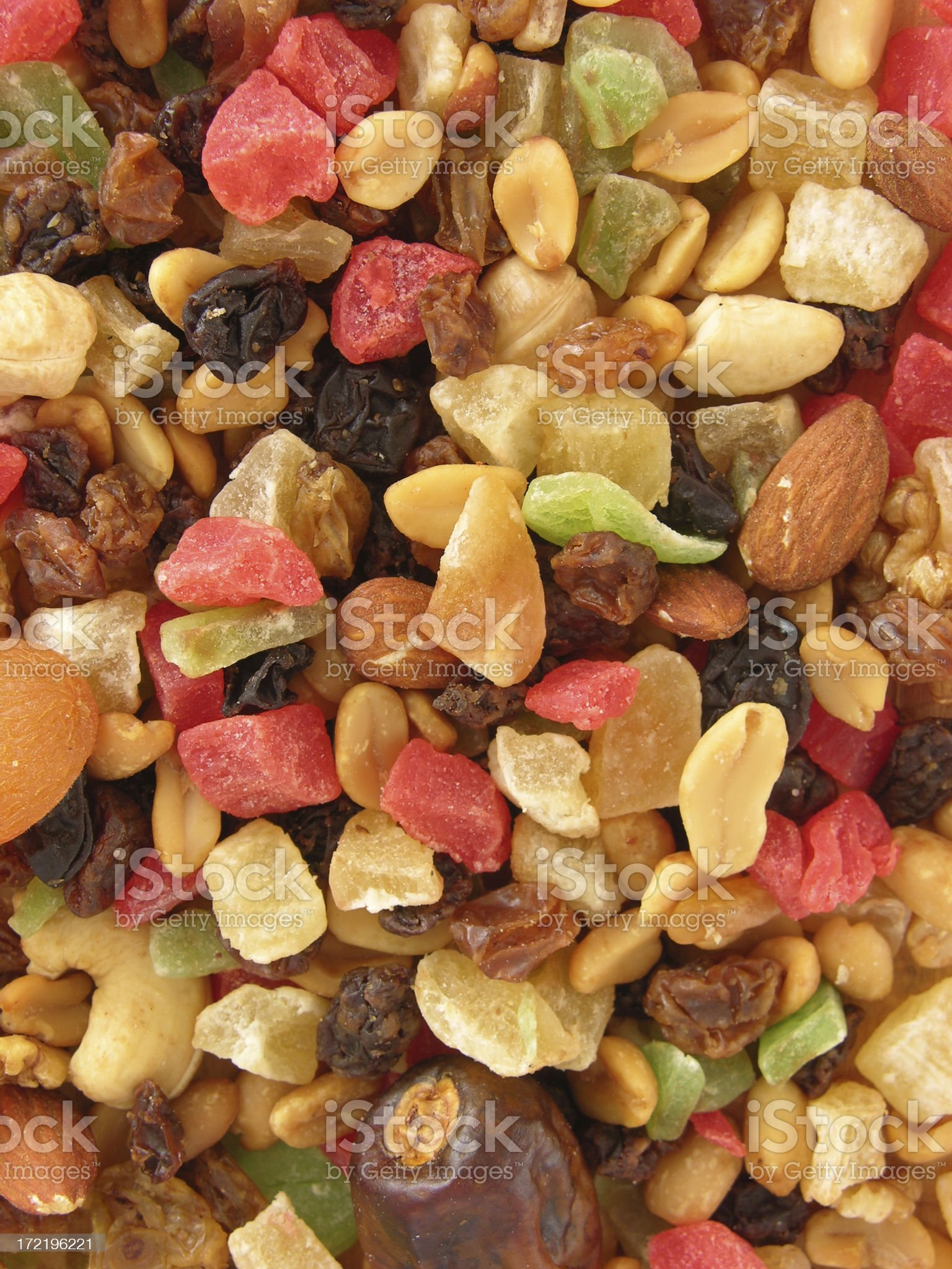 Nuts 'n fruits background royalty-free stock photo