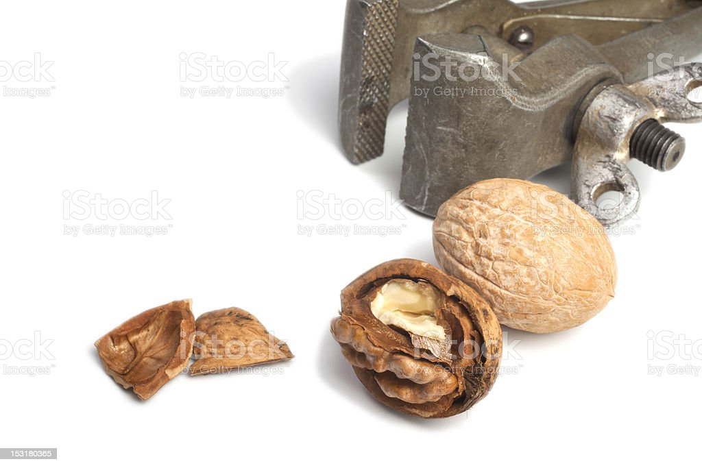 Nuts on white royalty-free stock photo