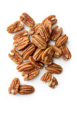 Nuts: Pecan Nuts Isolated on White Background