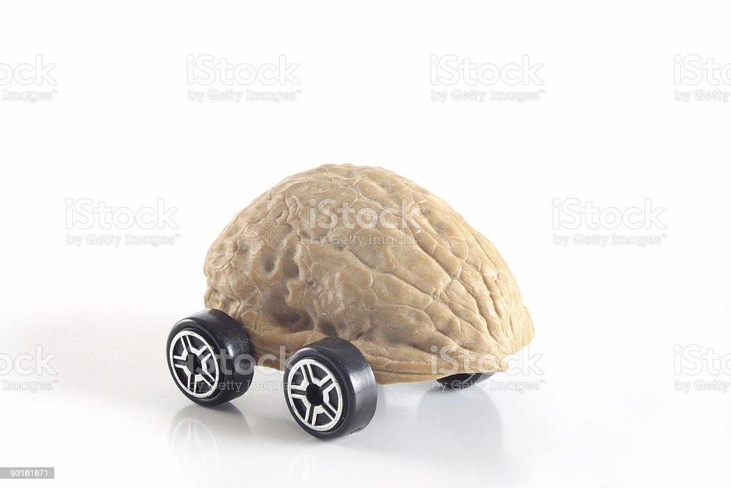 Nuts shell car royalty-free stock photo
