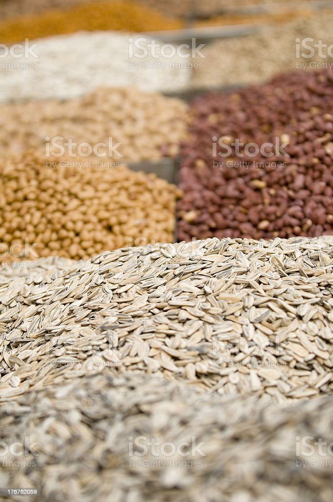 nuts ,sunflower seeds, colloquial,snack food royalty-free stock photo