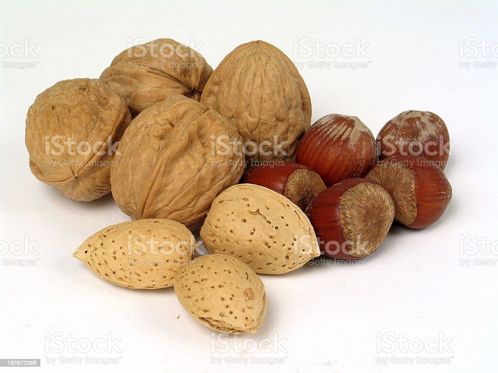 nuts1 royalty-free stock photo
