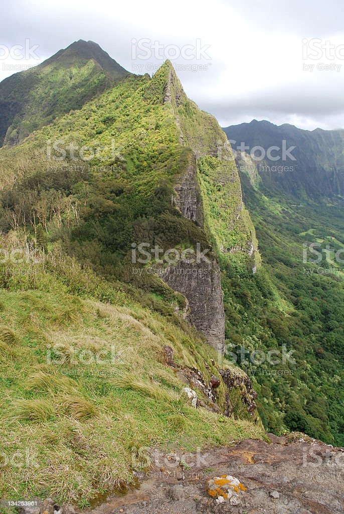 Nu?uanu Pali lookout in Oahu, Hawaii. royalty-free stock photo