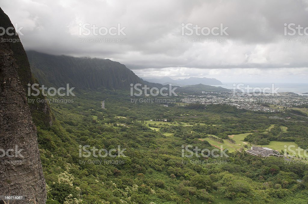 Nuuanu Pali Lookout, Oahu royalty-free stock photo