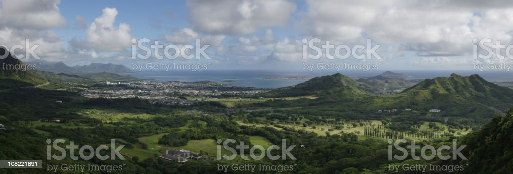 Nuuanu Pali Lookout View royalty-free stock photo