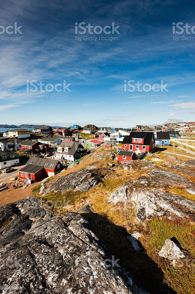 Nuuk (Godthab) Capital City Greenland in Summer stock photo
