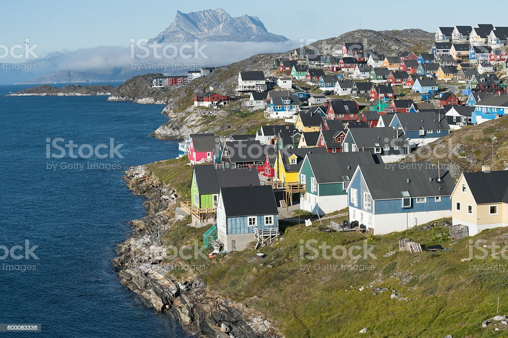 Nuuk, the charming capital of Greenland stock photo