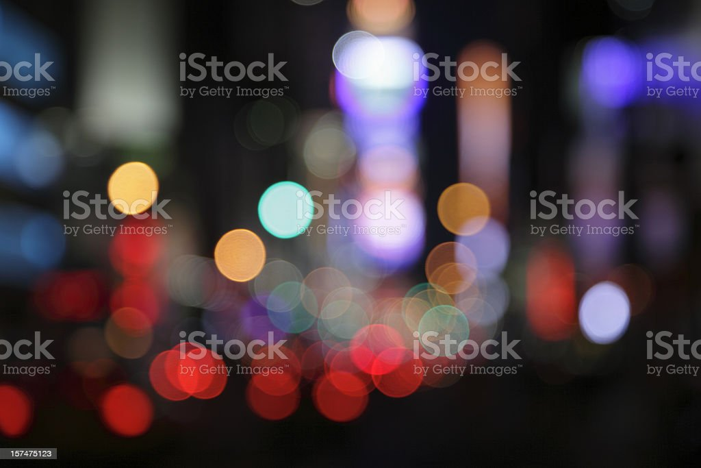 ny times square - defocused light dots multi colored royalty-free stock photo