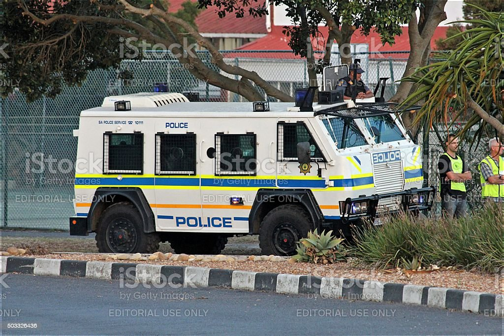 RG-12 'Nyala' riot / armored vehicle at event stock photo