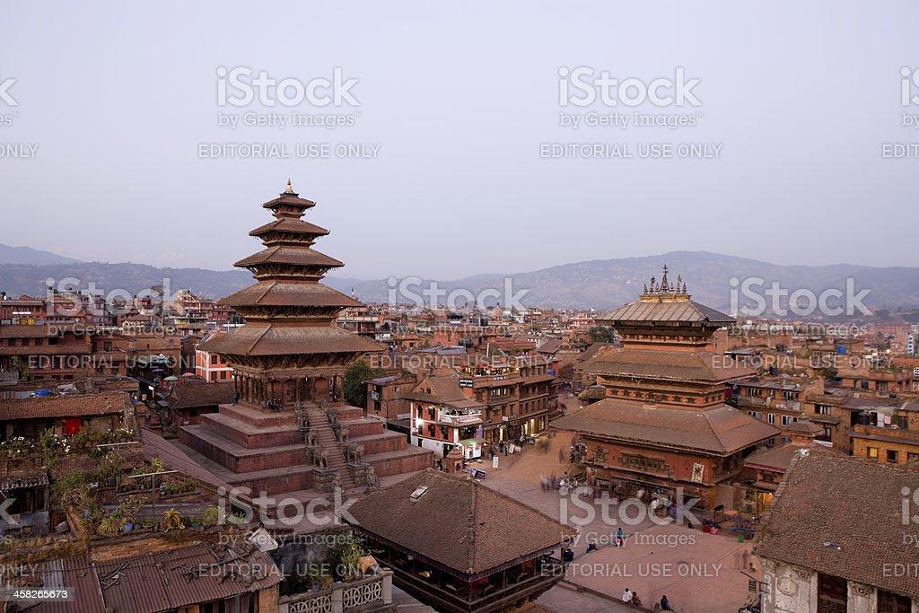 Nyatapola and Bhairavnath Temple stock photo