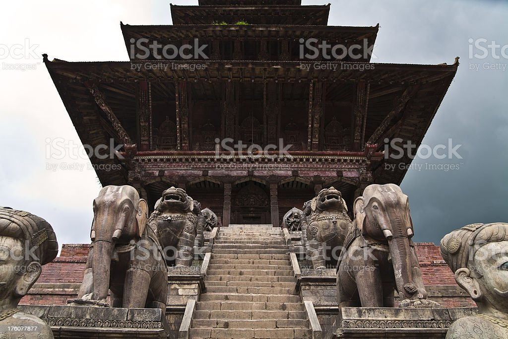 Nyatapola Hindu Temple stock photo