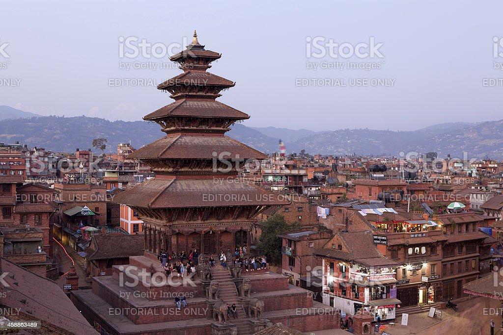 Nyatapola Temple Bhaktapur Nepal stock photo
