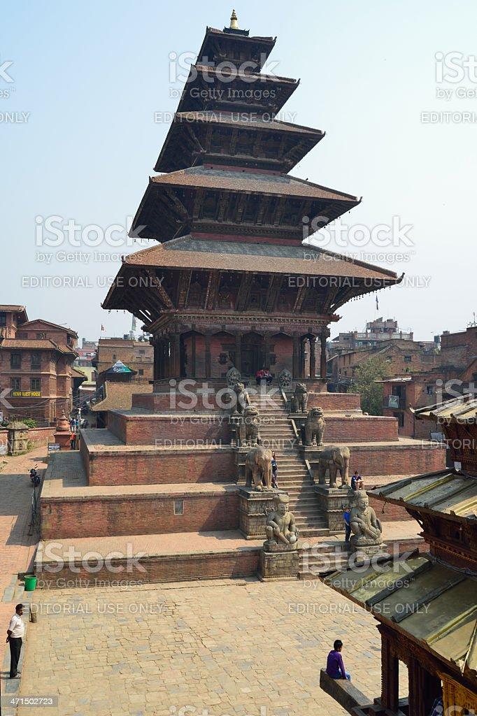 Nyatapola temple in Bhaktapur, Nepal royalty-free stock photo