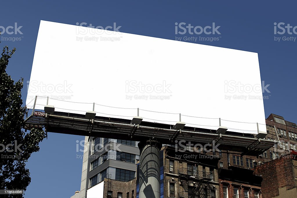 nyc blank billboard royalty-free stock photo