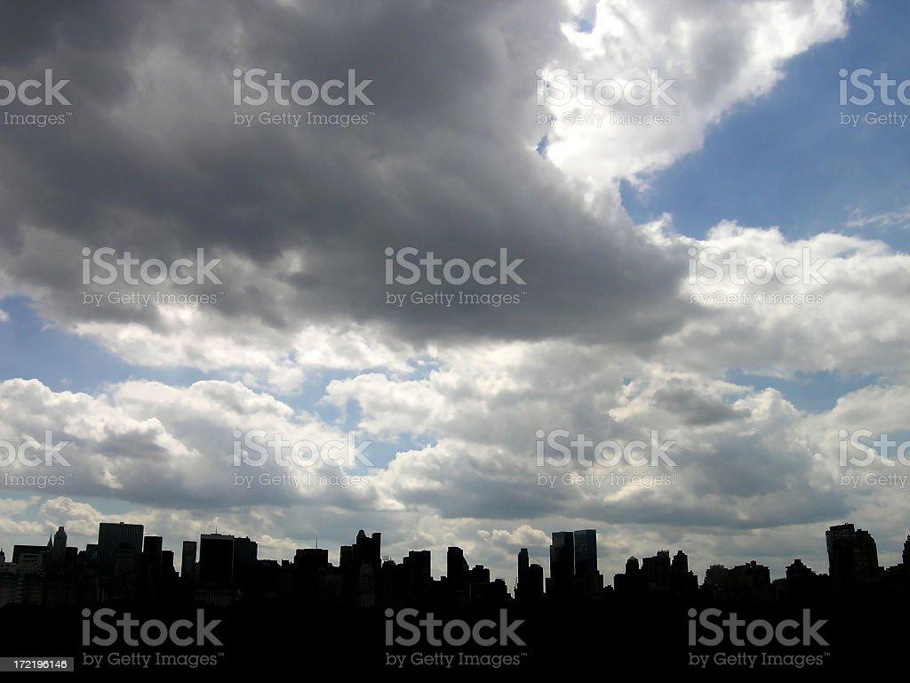 nyc skyline silhouette stock photo