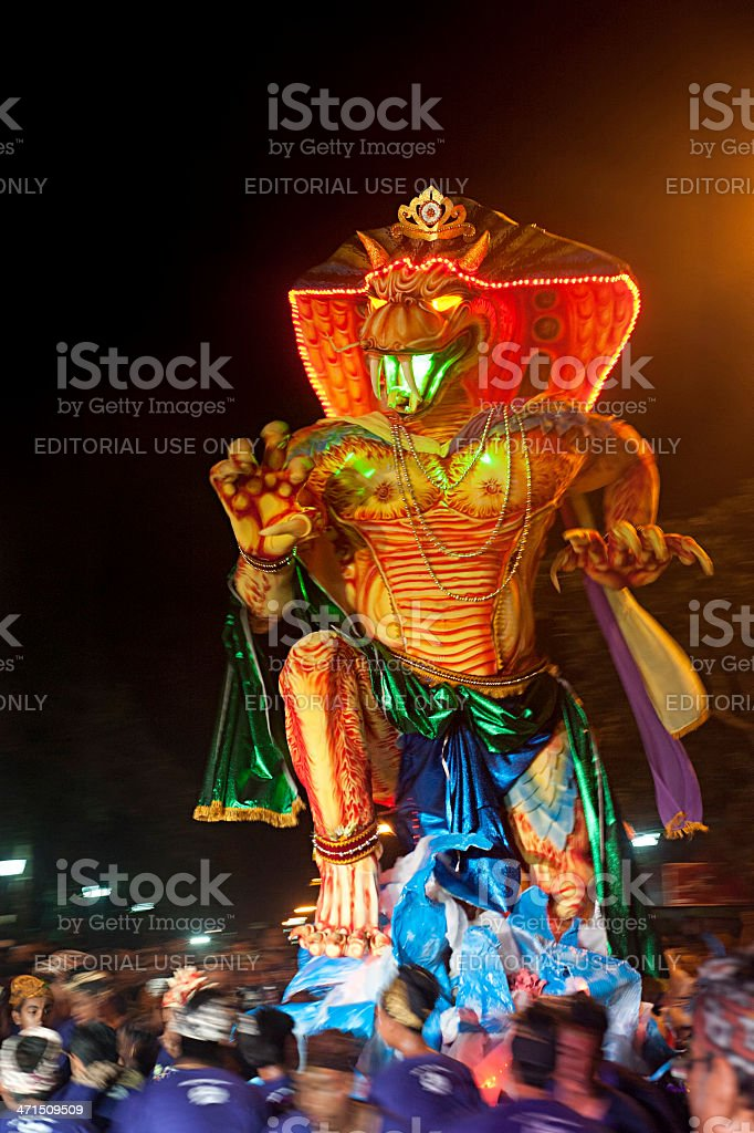 Nyepi celebrations royalty-free stock photo