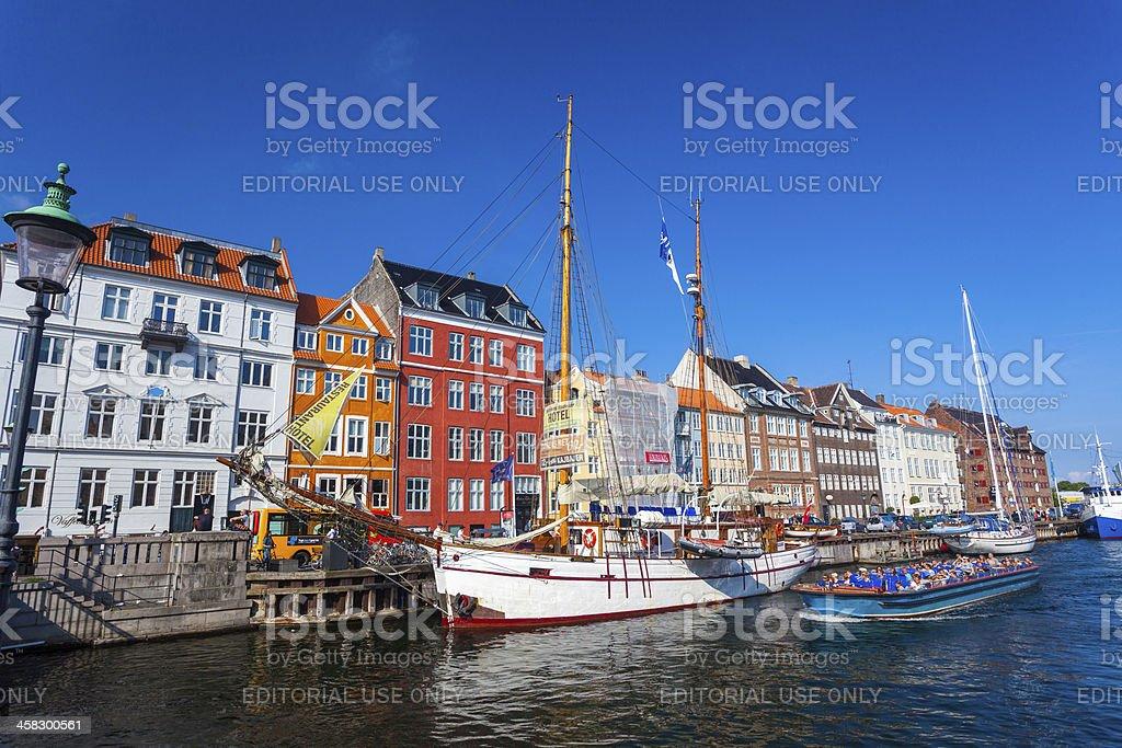 Nyhaven Waterside Copenhagen, Denmark royalty-free stock photo
