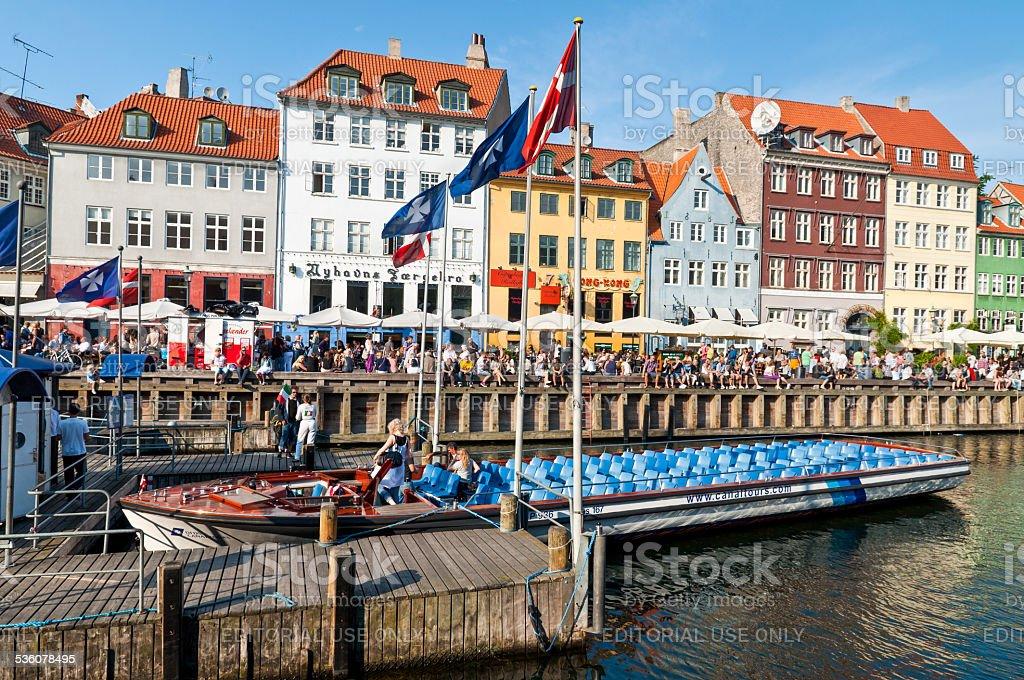Nyhavn canal in Copenhagen stock photo