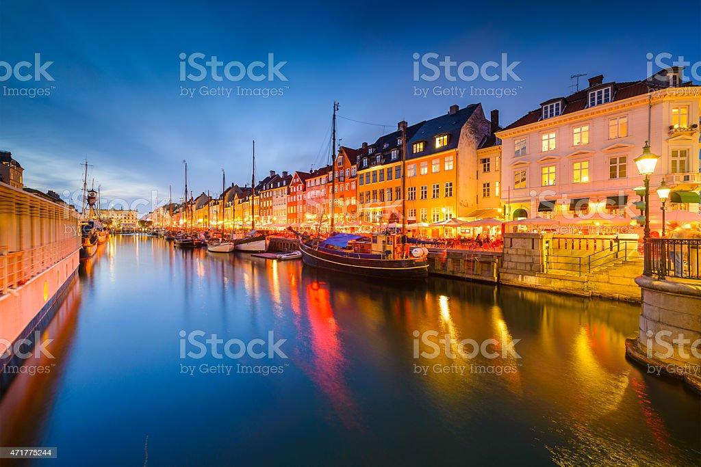 Nyhavn Canal of Copenhagen stock photo