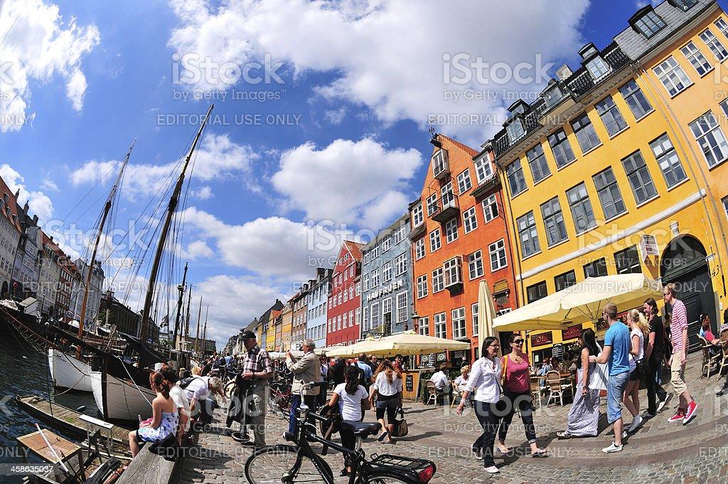 Nyhavn Copenhagen stock photo
