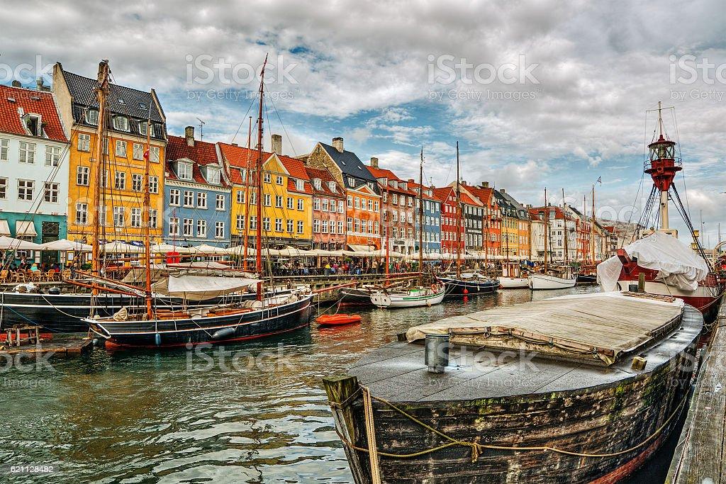 Nyhavn in Copenhagen HDR stock photo