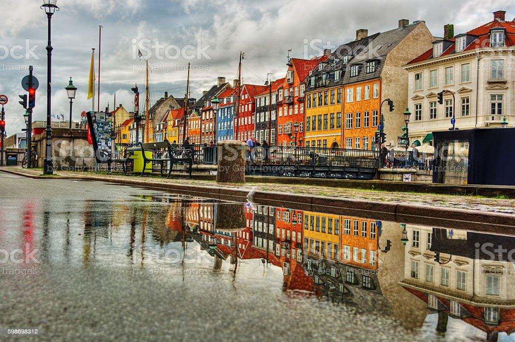 Nyhavn in Copenhagen stock photo