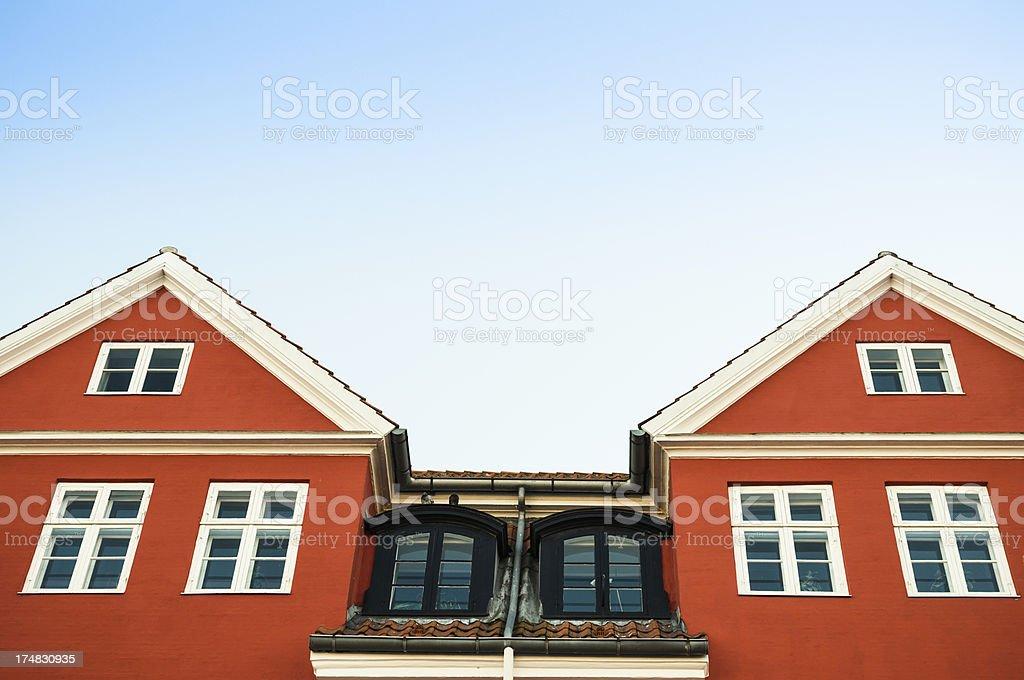 Nyhavn multicolored house facade in Copenhagen royalty-free stock photo