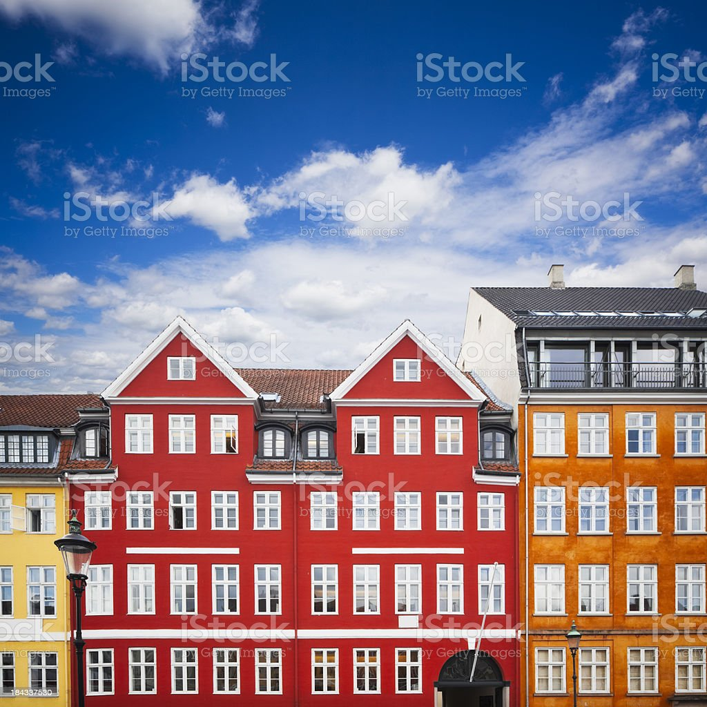 Nyhavn Number 18 / 20 - Hans Christian Andersen Home stock photo