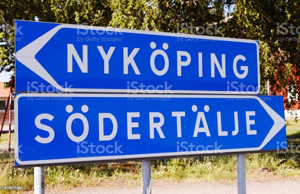 Nykoping and Sodertalje stock photo