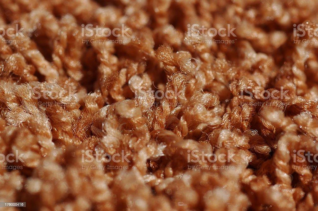 Nylon Carpet Fibers royalty-free stock photo