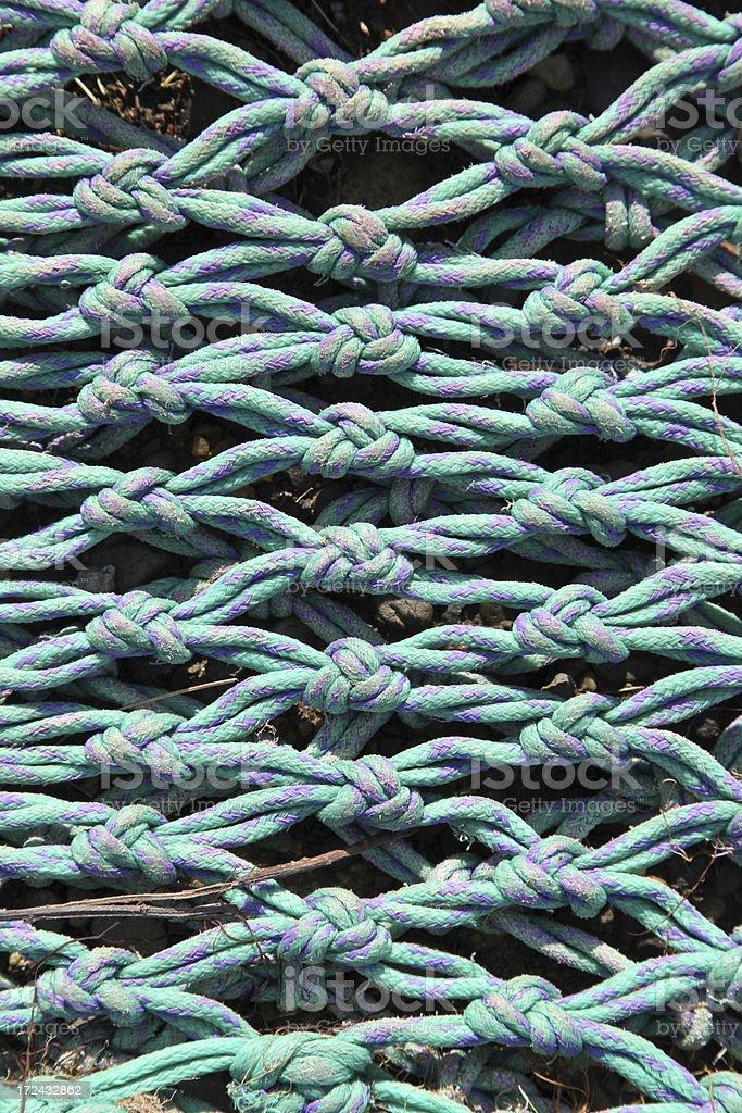 Nylon Commercial Fishing Net royalty-free stock photo