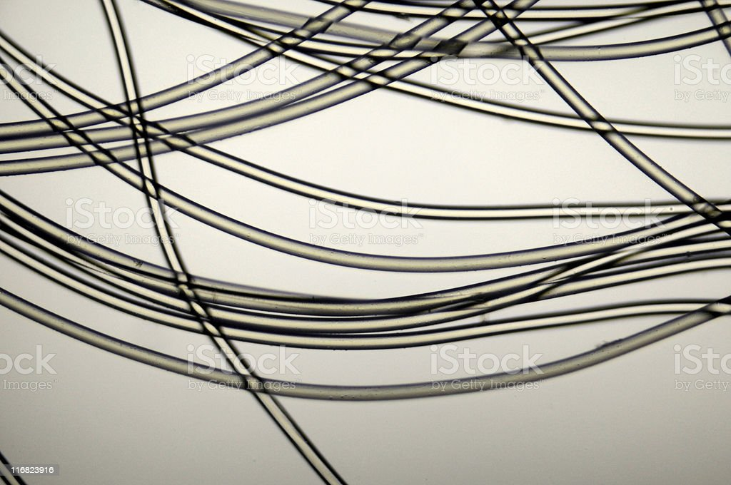 nylon fibers micrograph royalty-free stock photo