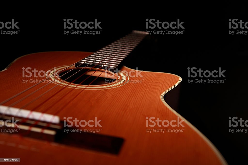Nylon String Acoustic Guitar stock photo