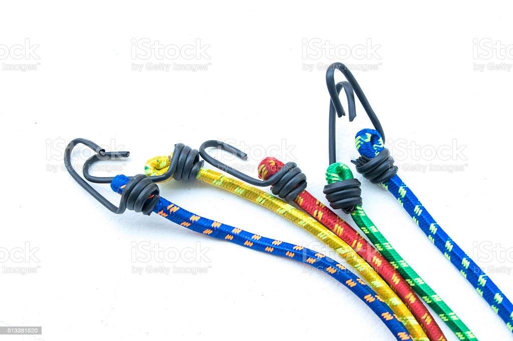 nylon tools straps on white background stock photo