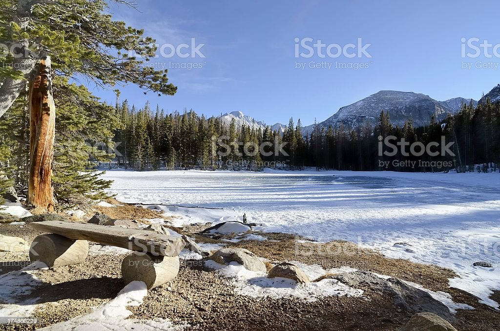 Nymph Lake, Rocky Mountain National Park royalty-free stock photo