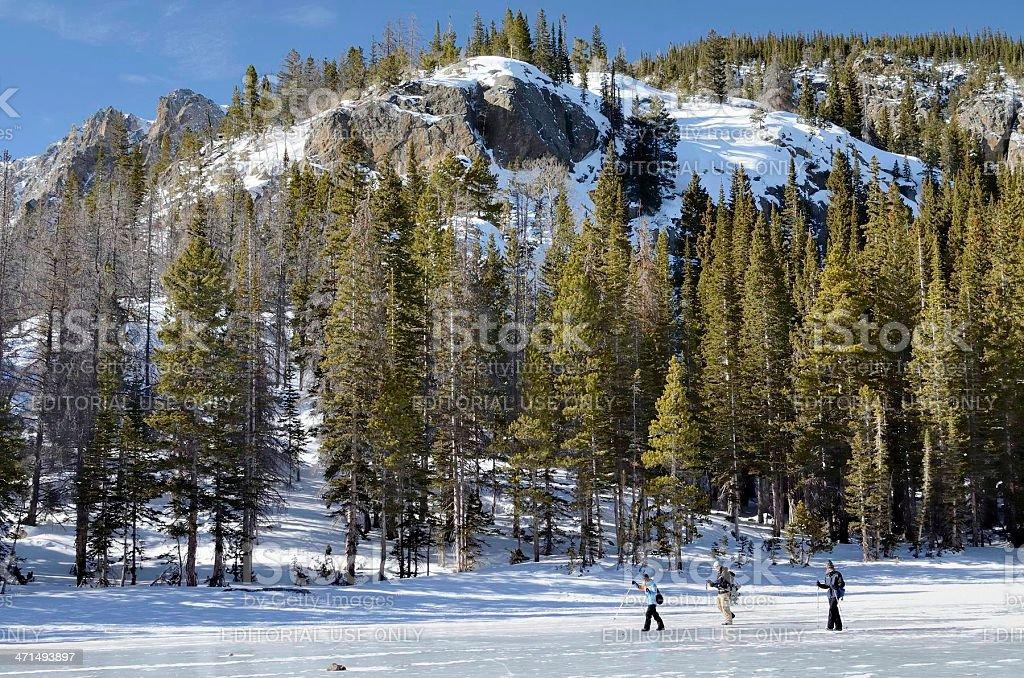 Nymph Lake, Rocky Mountain National Park royalty-free stock photo