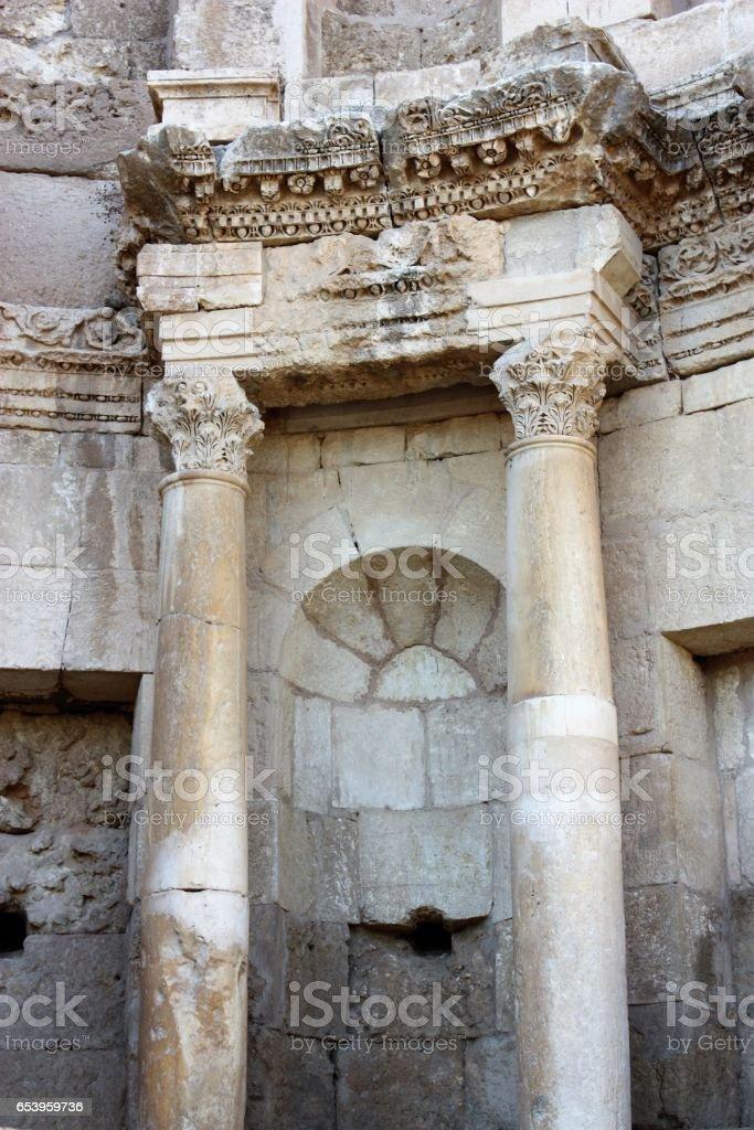 Nymphaeum in Gerasa Jerash in Jordan, Middle East stock photo