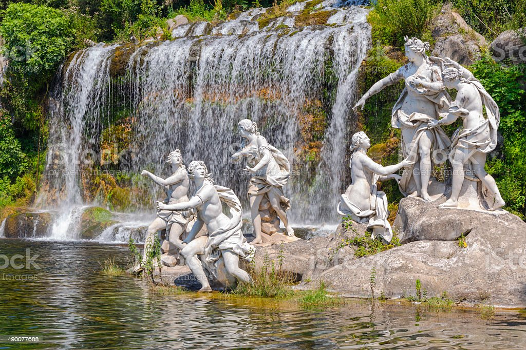 nymphs mythological statues stock photo