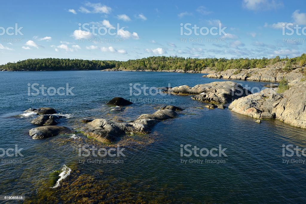 Nynäshamn Archipelago stock photo