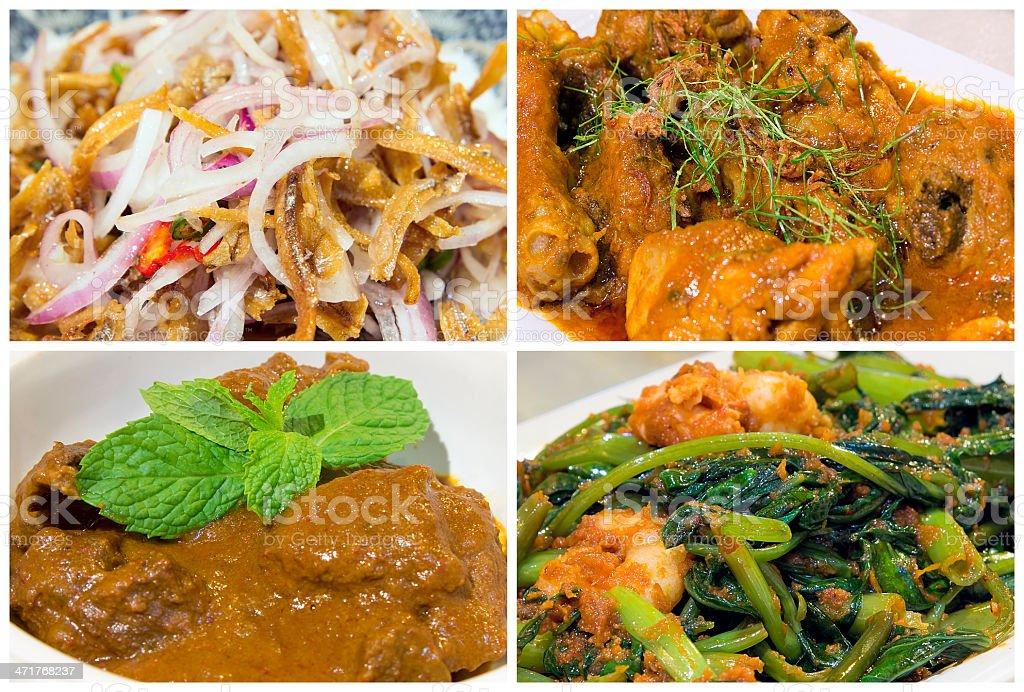 Nyonya Peranakan Food Collage royalty-free stock photo