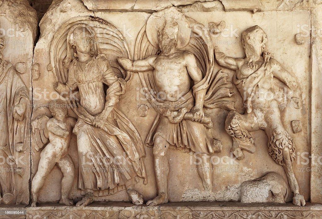 Nysa Ancient City in Aydin, Turkey stock photo