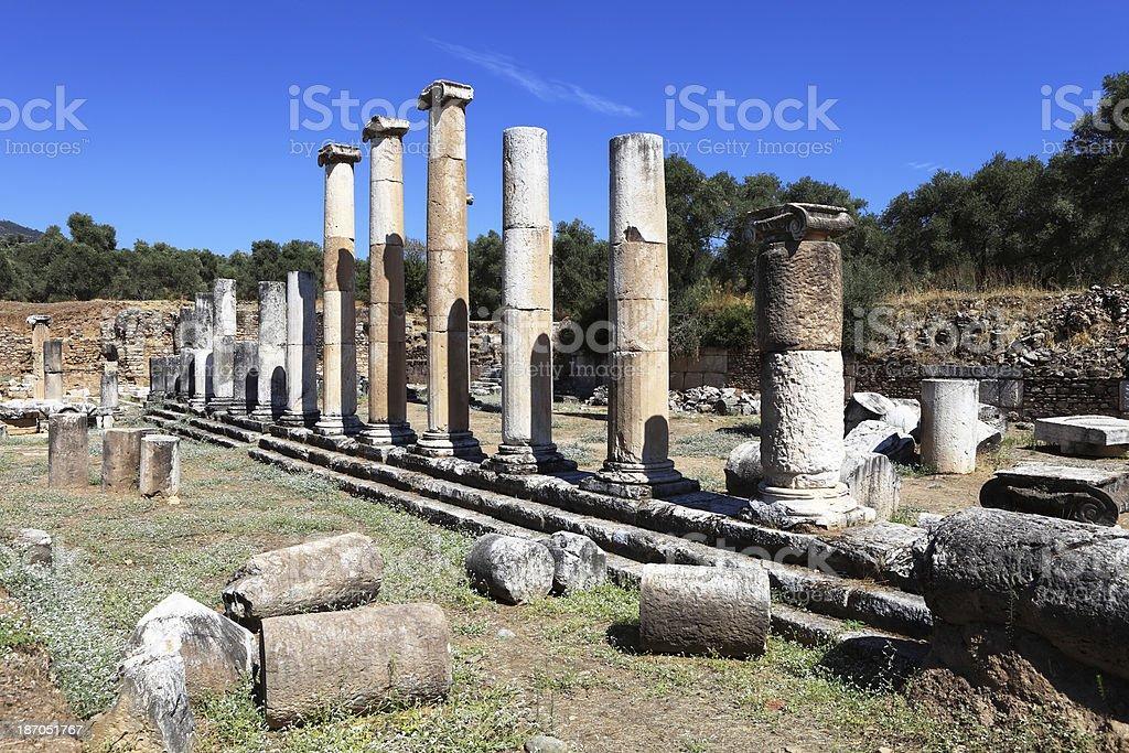 Nysa Ancient City royalty-free stock photo