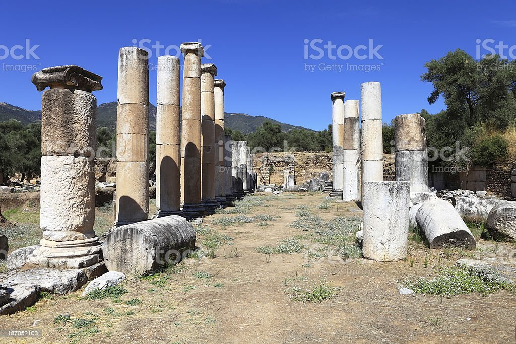 Nysa Ancient City royalty-free stock photo