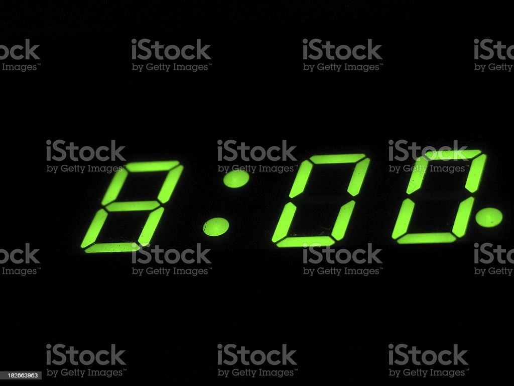 8 o' clock on the alarmclock royalty-free stock photo