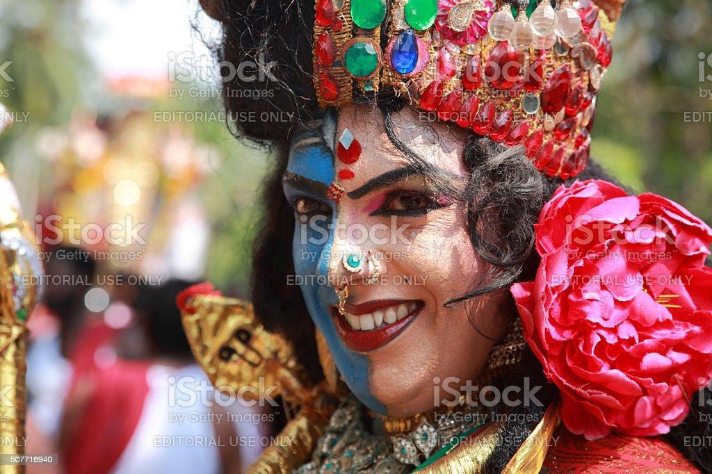 Oachira temple festival stock photo