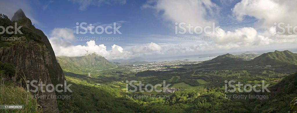 Oahu Hawaii Panorama (XXL) royalty-free stock photo