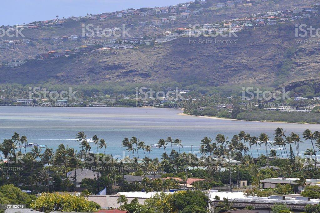 Oahu ocean view royalty-free stock photo