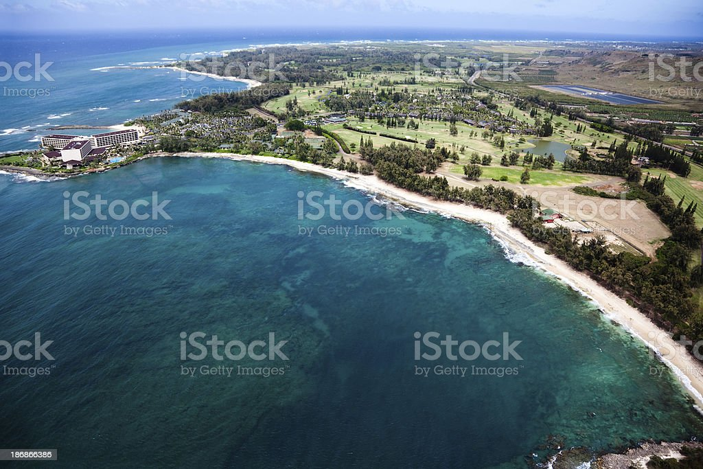 Oahu Turtle Bay stock photo